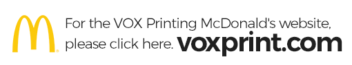 VOX Printing McDonald's Website | VOXPrint.com